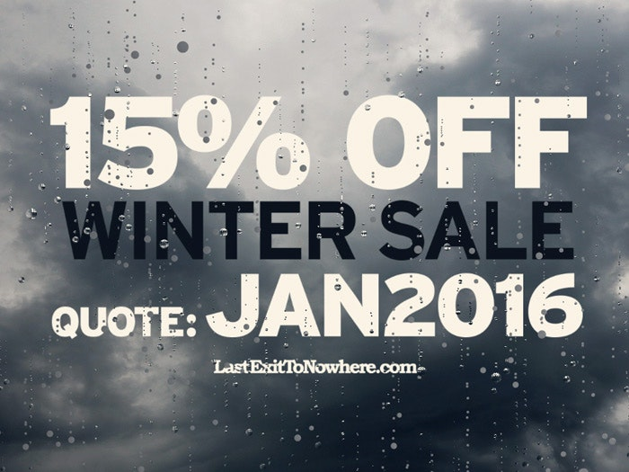 WINTER SALE 15% OFF ALL ITEMS
