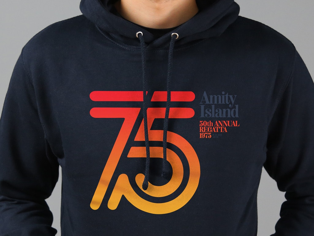 AMITY ISLAND REGATTA 1975 - JAWS INSPIRED HOODED TOP