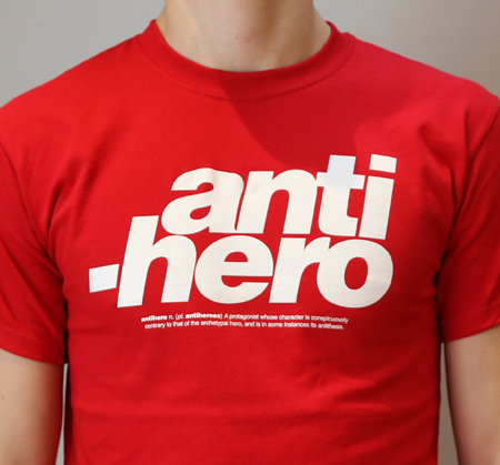 Antihero T-shirt design