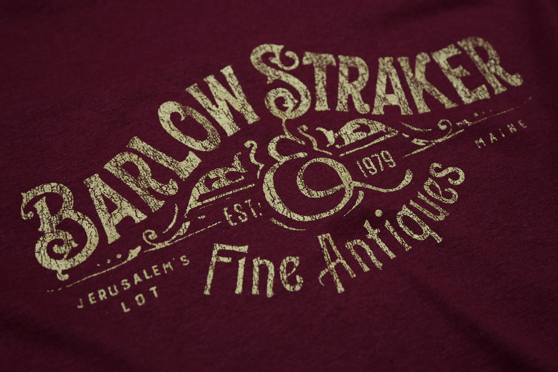 BARLOW AND STRAKER FINE ANTIQUES T-SHIRT - INSPIRED BY SALEM'S LOT