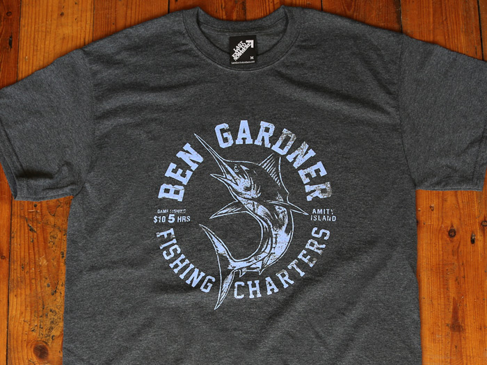 Ben Gardner T-shirt inspired by Jaws