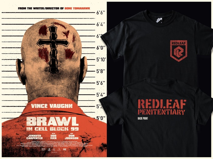 BRAWL IN CELL BLOCK 99 OFFICIAL T-SHIRT