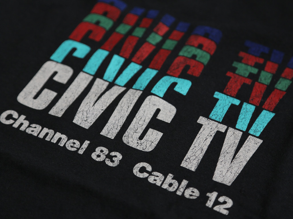 CIVIC TV T-SHIRT INSPIRED BY VIDEODROME