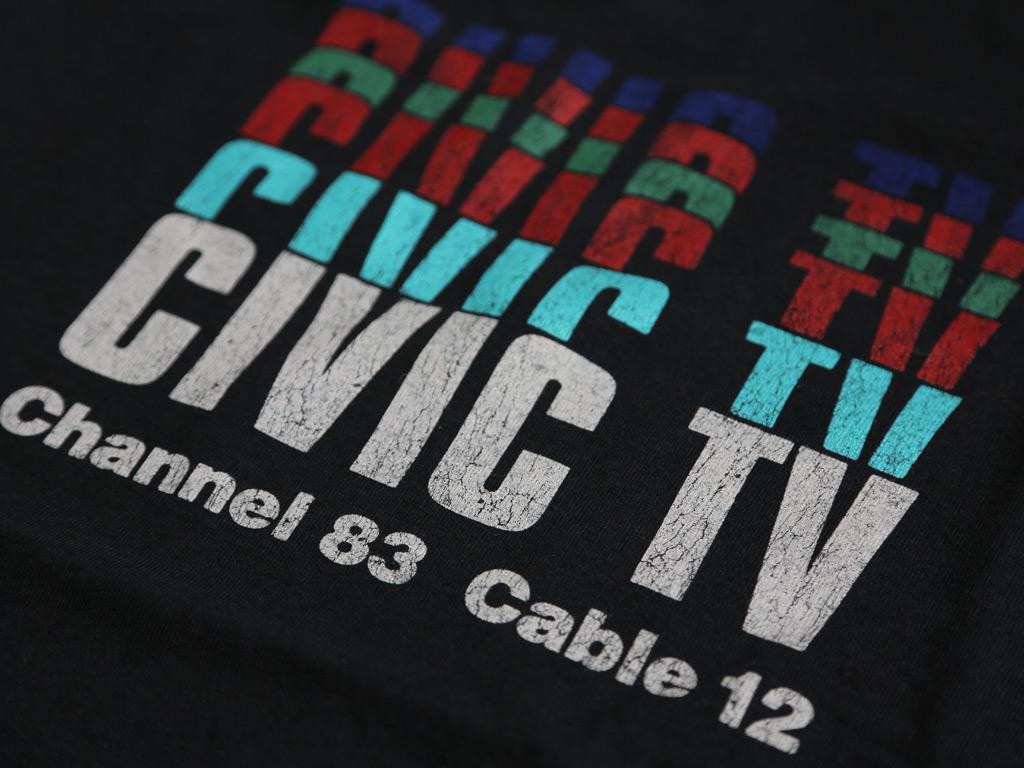 CIVIC TV T-SHIRT INSPIRED BY VIDEODROME