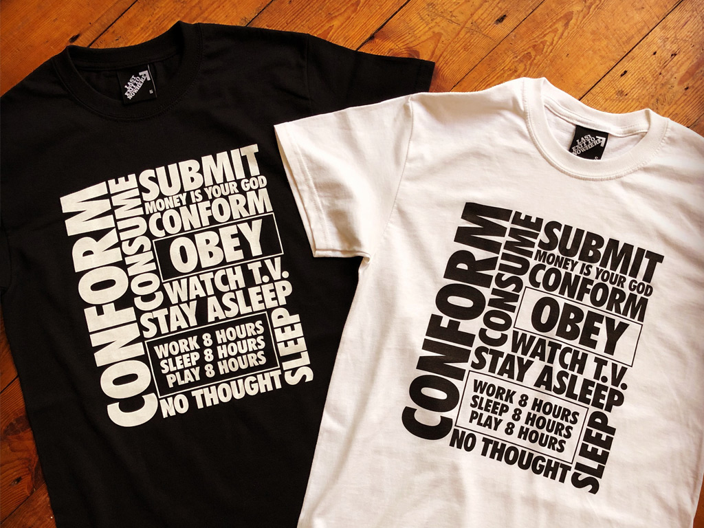 CONFORM SUBMIT OBEY - THEY LIVE INSPIRED TSHIRTS