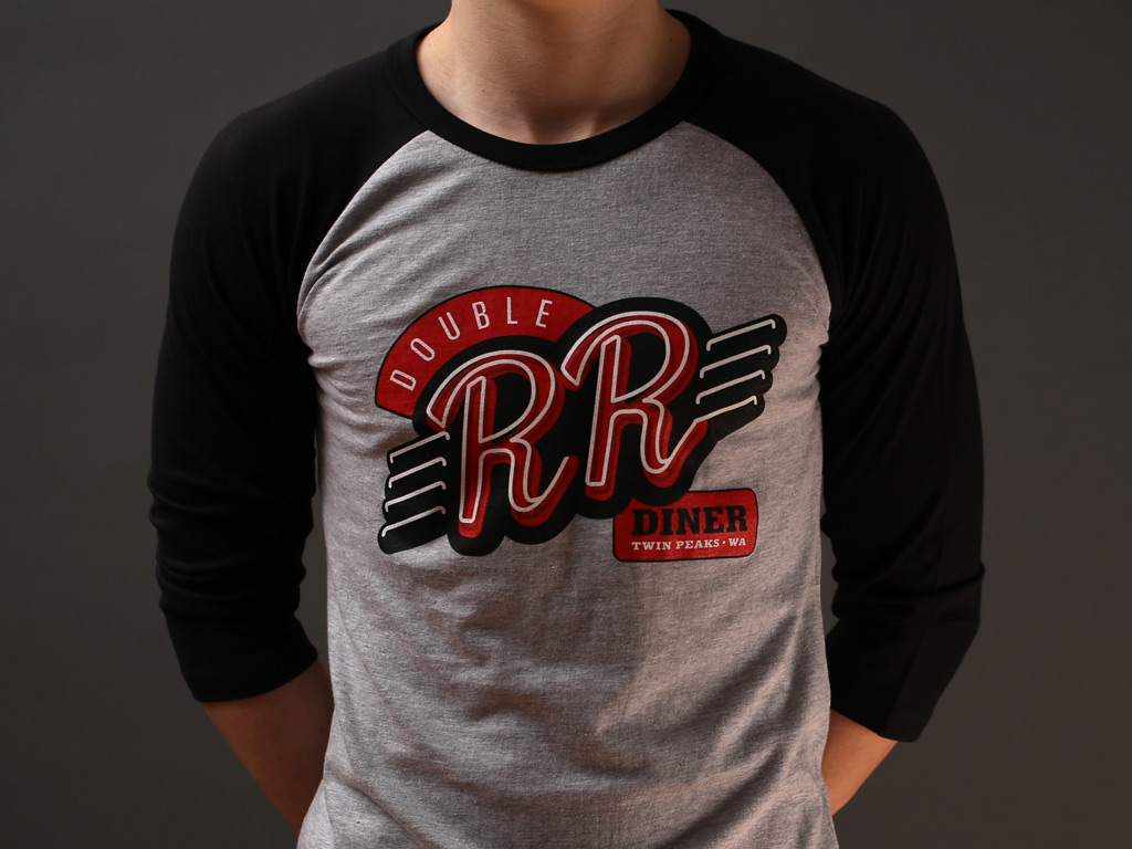 DOUBLE R DINER BASEBALL SHIRT - INSPIRED BY TWIN PEAKS