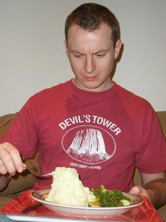 Daniel Brent wears our Devil's Tower T-shirt