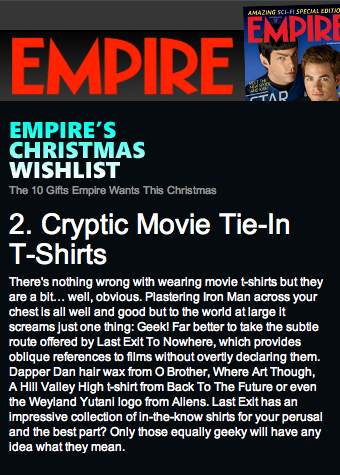 Empire's Christmas Wishlist