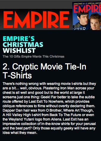 Empire's Christmas Wishlist