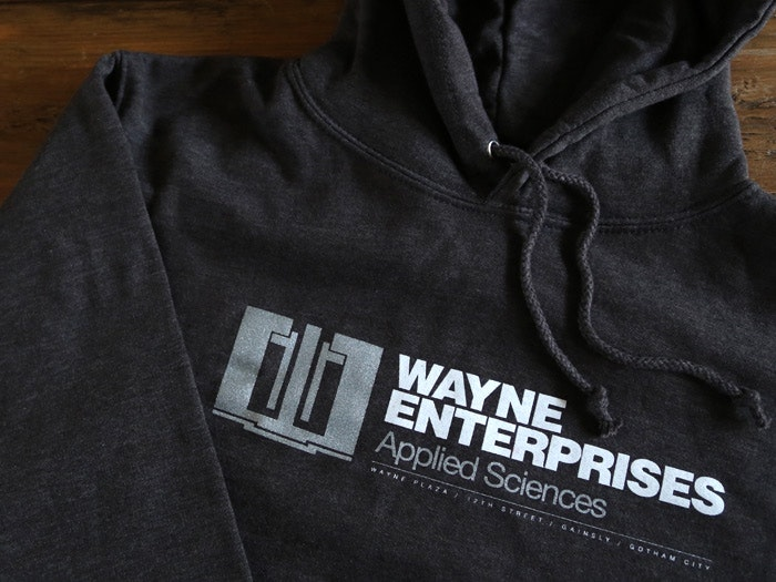 Film inspired hooded tops