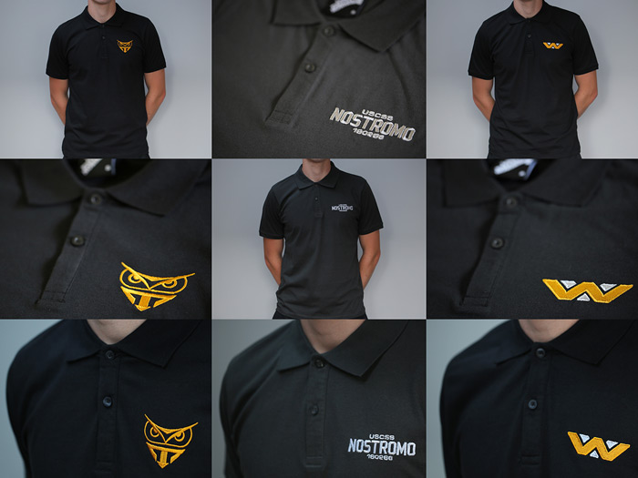 FILM INSPIRED EMBROIDERED POLO SHIRTS