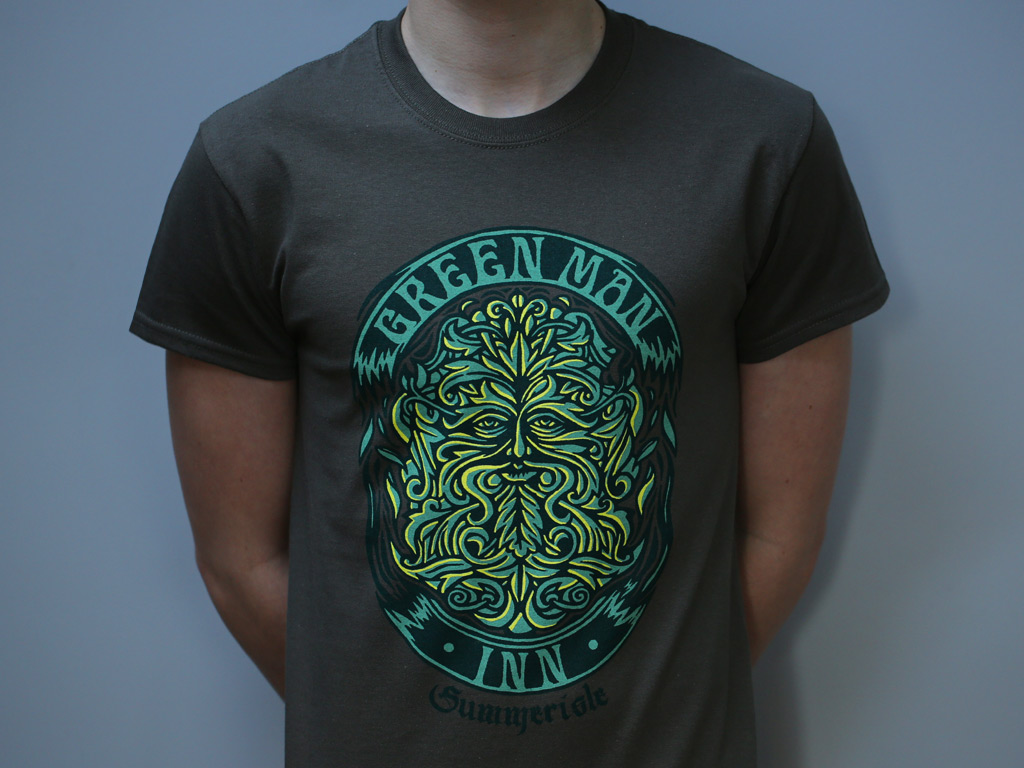 GREEN MAN INN T-SHIRT - AN HOMAGE TO THE WICKER MAN