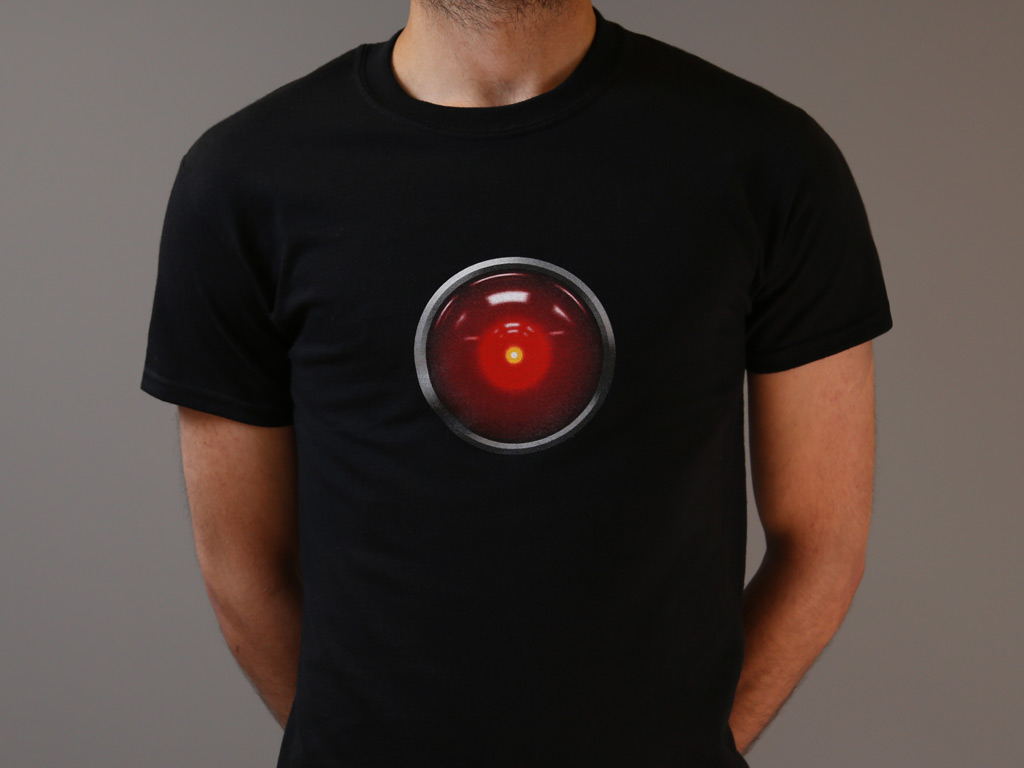 HAL T-SHIRT INSPIRED BY 2001: A SPACE ODYSSEY