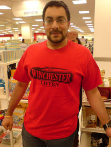 Krishen wears our Winchester T-shirt