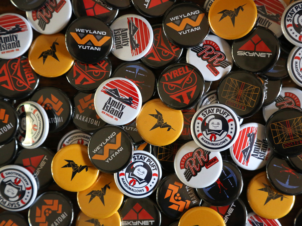 LAST EXIT TO NOWHERE FILM INSPIRED BADGES