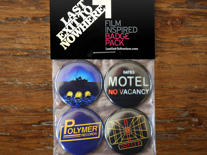 LAST EXIT FILM INSPIRED BADGE PACKS