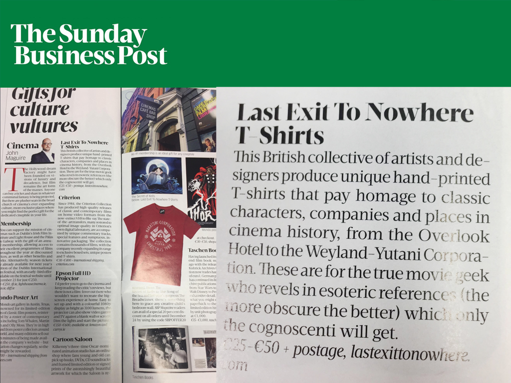 Last Exit to Nowhere in The Sunday Business Post