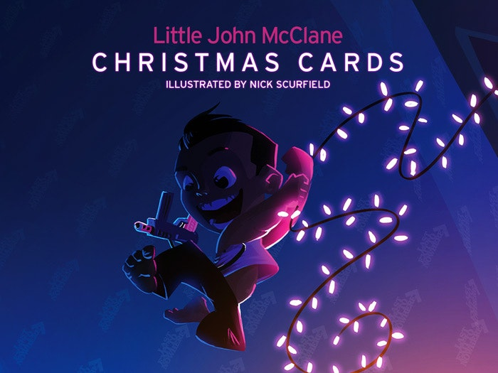 LITTLE JOHN MCCLANE CHRISTMAS CARDS