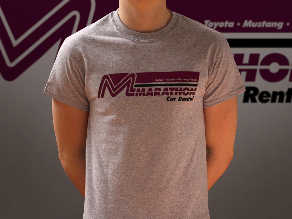 Marathon Car Rental - Planes, Trains and Automobiles inspired T-shirt