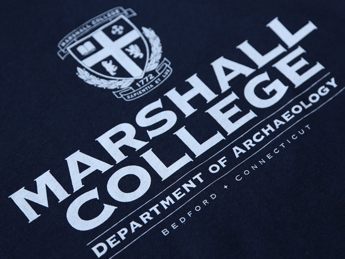 MARSHALL COLLEGE T-SHIRT INSPIRED BY RAIDERS OF THE LOST ARK