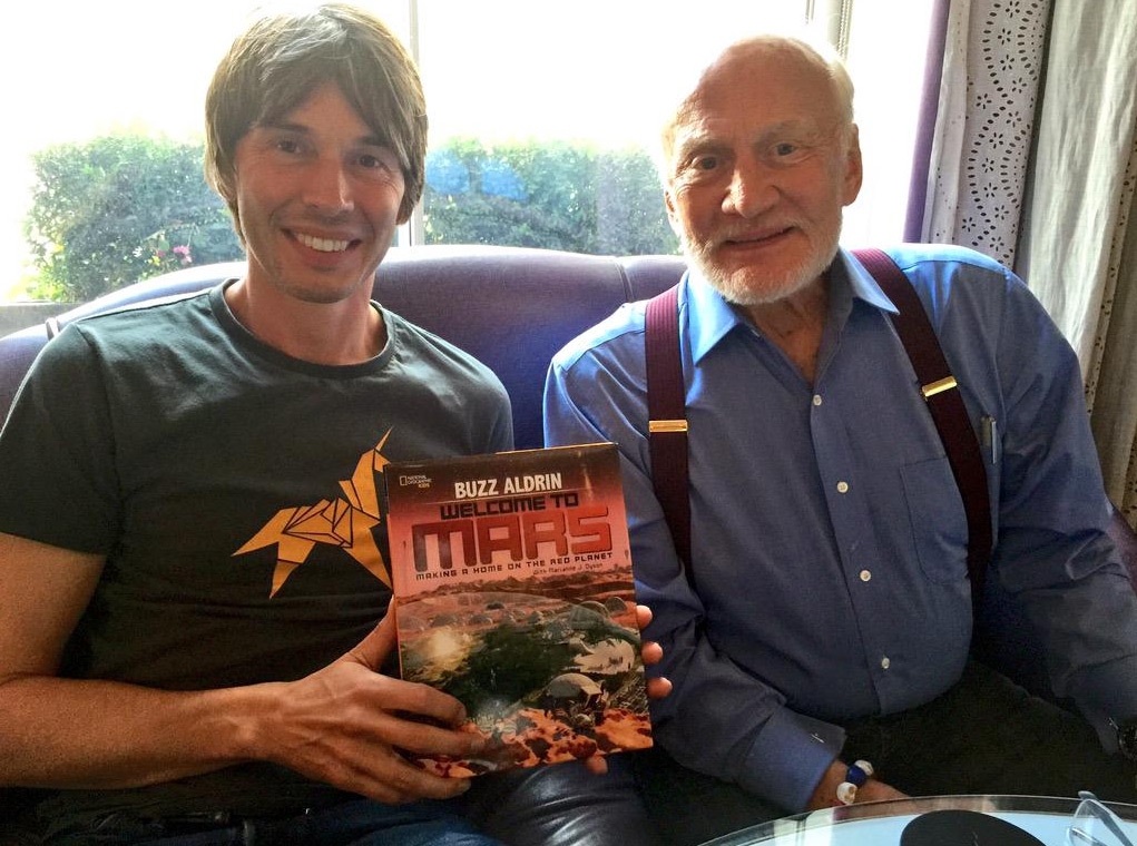 Professor Brian Cox and Buzz Aldrin