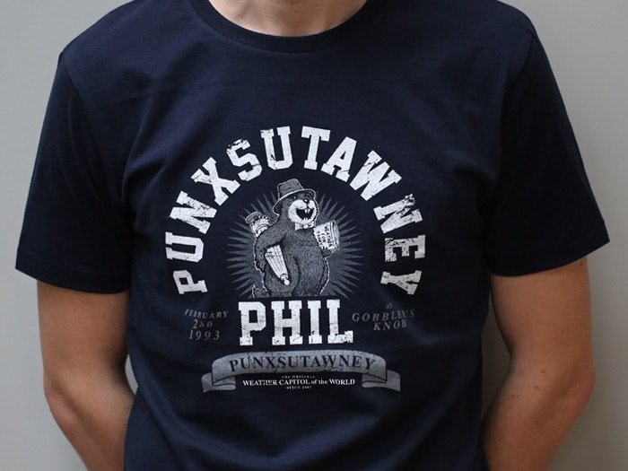 Punxsutawney Phil T-shirt inspired by Groundhog Day