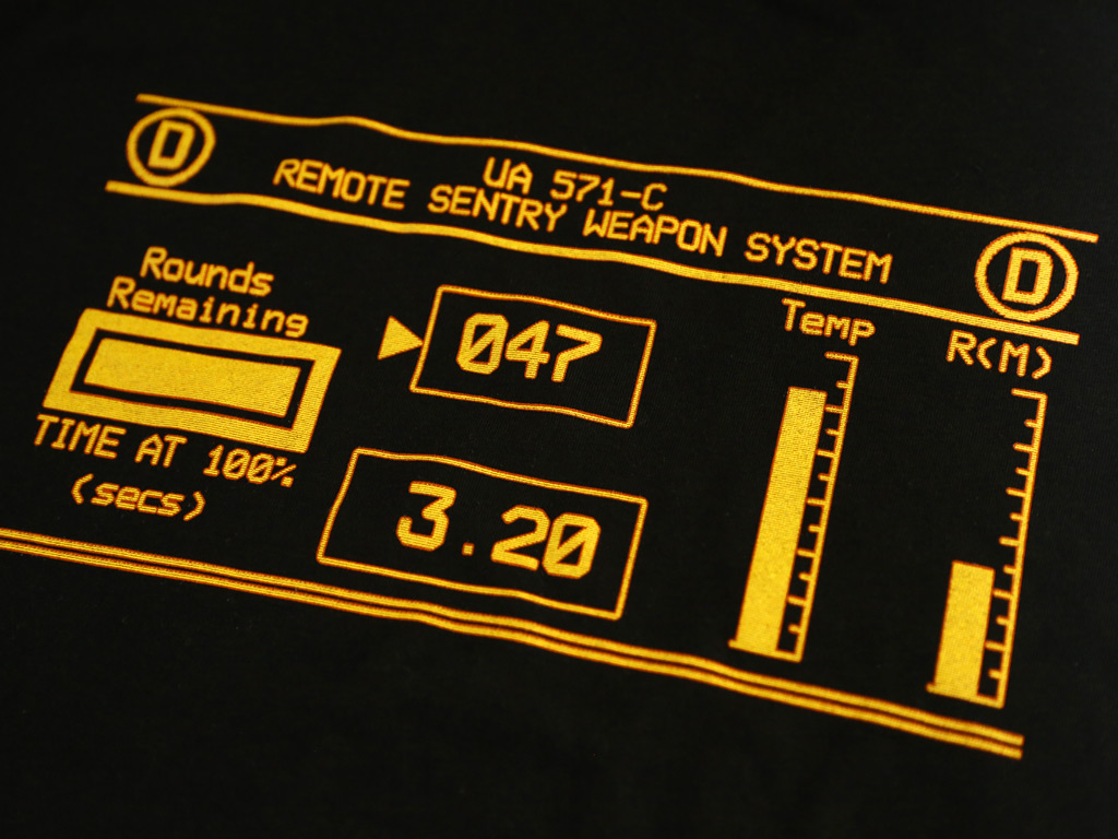 Remote Sentry Weapon System T-shirt inspired by Aliens