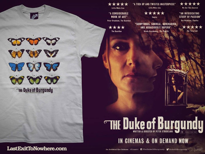 Official T-shirt for The Duke of Burgundy