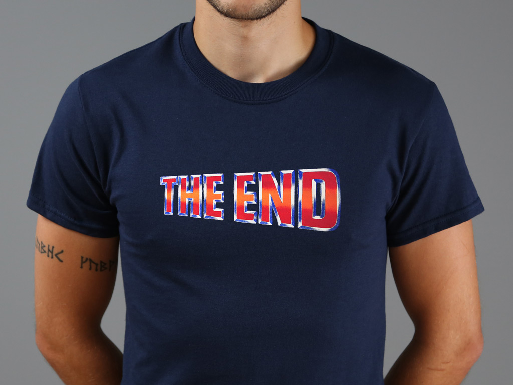 THE END - BACK TO THE FUTURE INSPIRED T-SHIRT