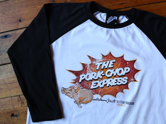 The Pork Chop Express - 3/4 Length Baseball Shirt