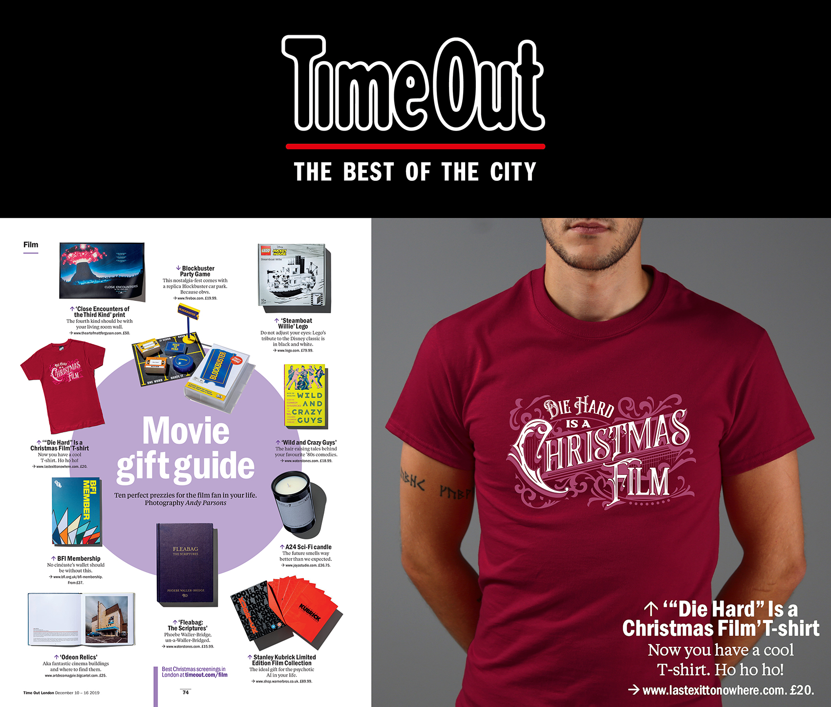 LAST EXIT TO NOWHERE IN TIME OUT LONDON'S GIFT GUIDE