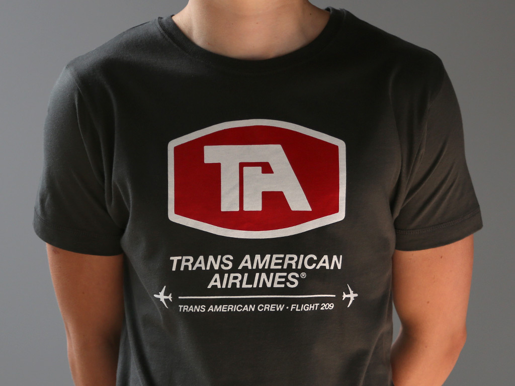 TRANS AMERICAN AIRLINES T-SHIRT INSPIRED BY AIRPLANE!
