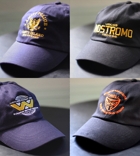 4 NEW embroidered caps
