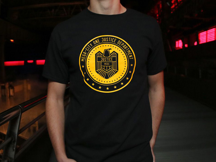 Mega City One Justice Department T-shirt