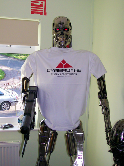 The Terminator wears Cyberdyne