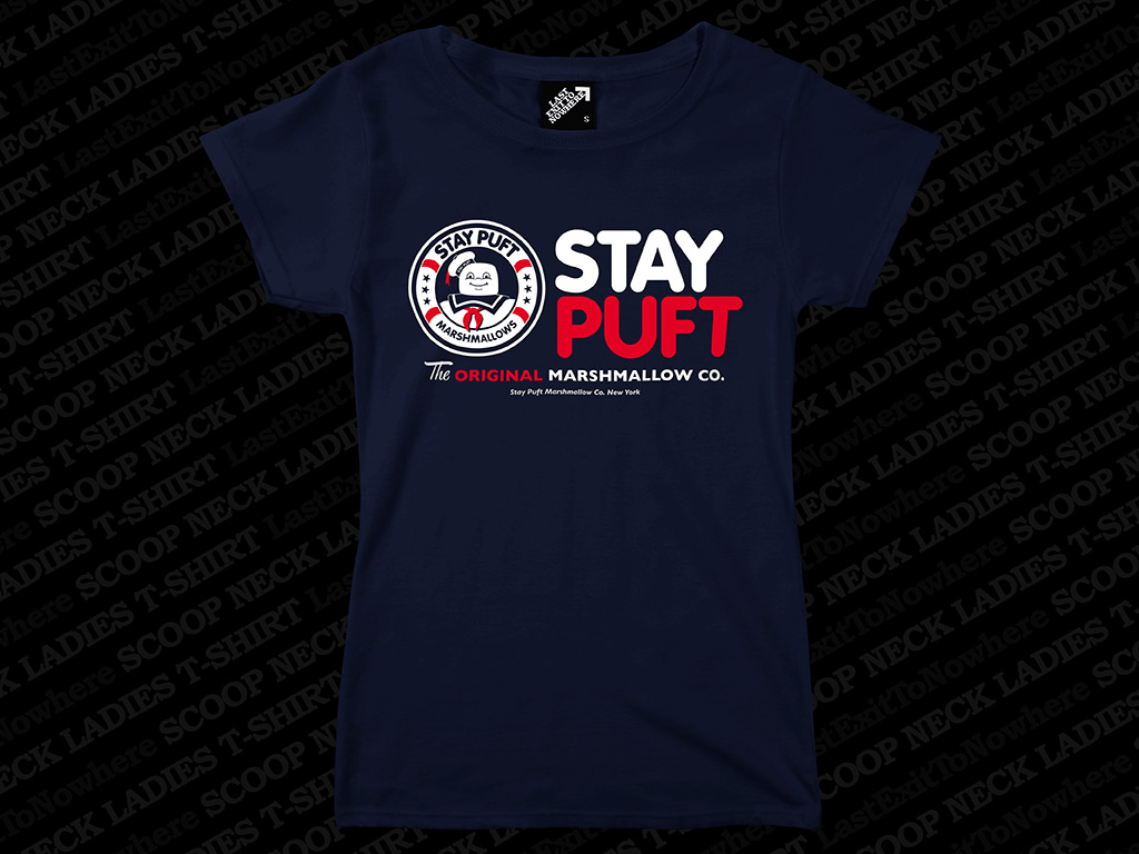 STAY PUFT MARSHMALLOW COMPANY - LADIES SCOOP NECK T-SHIRT