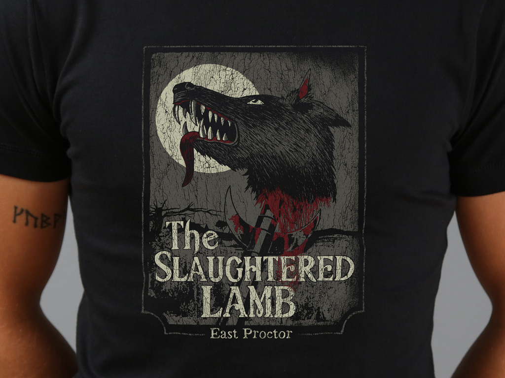 The Slaughtered Lamb Fitted T Shirt Last Exit To Nowhere