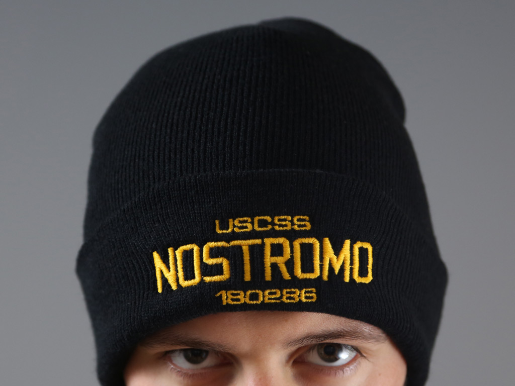 4ea24ce21ba USCSS NOSTROMO - FOLDED (EMBROIDERED) BEANIE