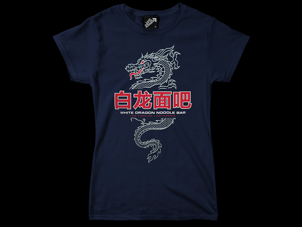2173fcc4 WHITE DRAGON NOODLE BAR - LADIES FITTED T-SHIRT | Last Exit to Nowhere