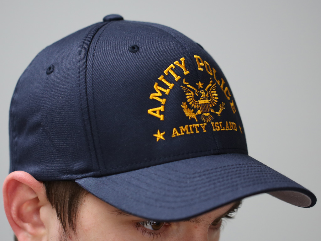 AMITY POLICE (EMBROIDERED) - FLEXIFIT CAP  a3df356f5c6