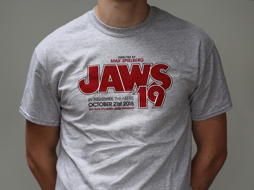 jaws 19 regular t shirt last exit to nowhere. Black Bedroom Furniture Sets. Home Design Ideas