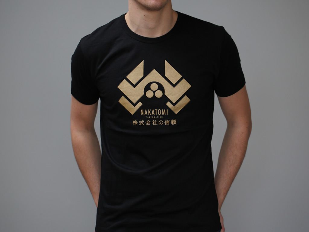 Black t shirt with print - Enlarge