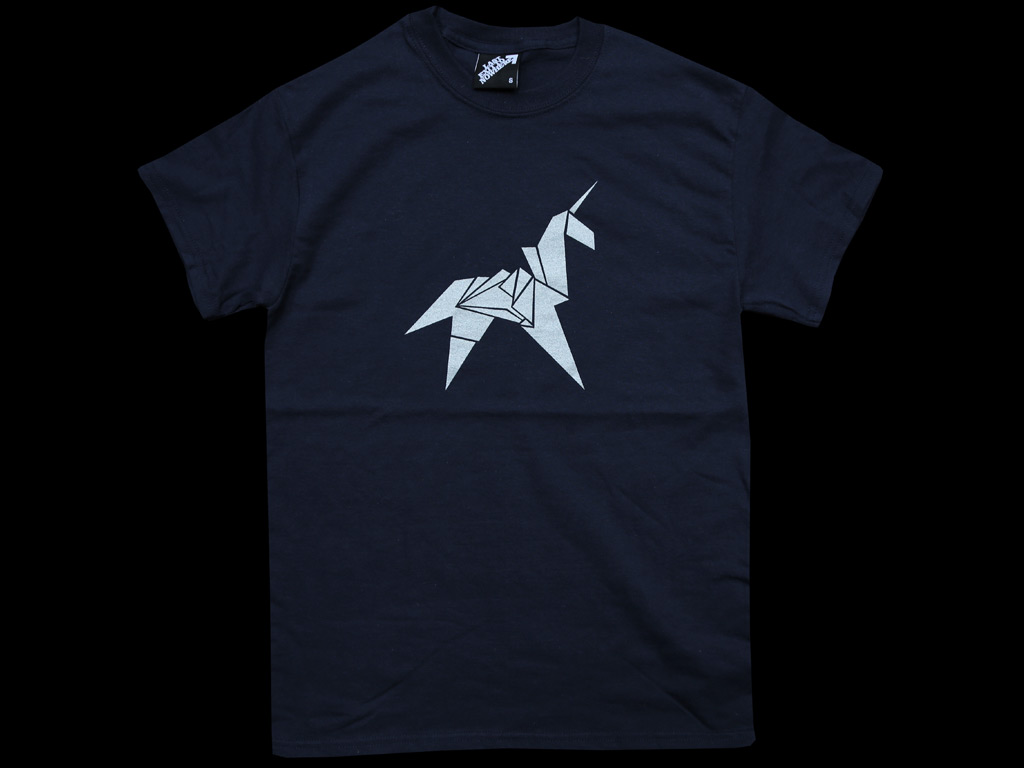 Origami unicorn silver print regular t shirt last exit to enlarge jeuxipadfo Gallery