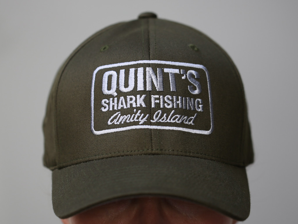 Quint S Shark Fishing Embroidered Flexifit Cap Last